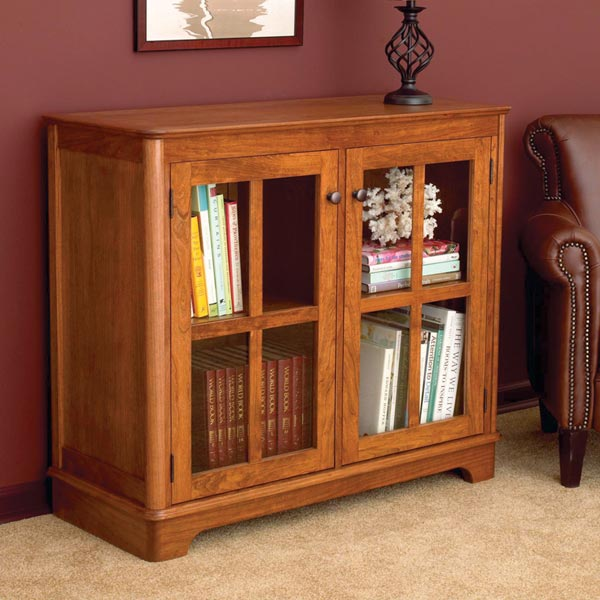 Glass-Door Bookcase Woodworking Plan, Furniture Bookcases & Shelving
