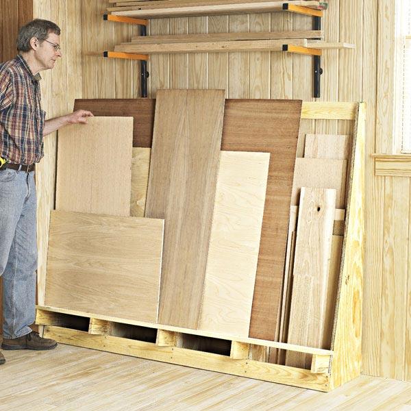 Shorts & Sheets Goods Rack Woodworking Plan, Workshop & Jigs Shop Cabinets, Storage, & Organizers Workshop & Jigs $2 Shop Plans