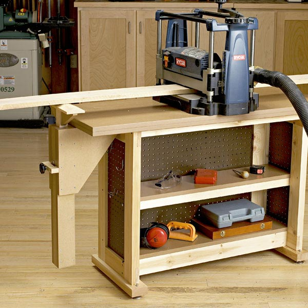 Right-Height Outfeed Support Woodworking Plan, Workshop & Jigs Jigs & Fixtures Workshop & Jigs $2 Shop Plans