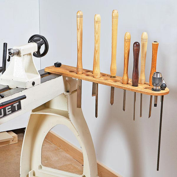 Swing-Arm Lathe-Tool Holder Woodworking Plan, Workshop & Jigs Shop Cabinets, Storage, & Organizers Workshop & Jigs $2 Shop Plans