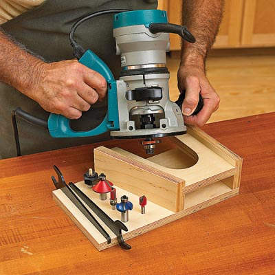 At-The-Ready Router Rest Woodworking Plan, Workshop & Jigs Tool Bases & Stands Workshop & Jigs $2 Shop Plans