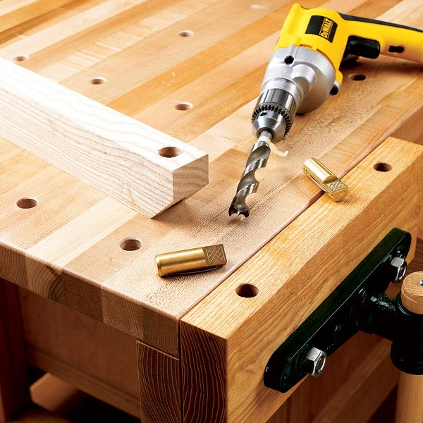 Hole-Boring Guide Woodworking Plan, Workshop & Jigs Jigs & Fixtures Workshop & Jigs $2 Shop Plans