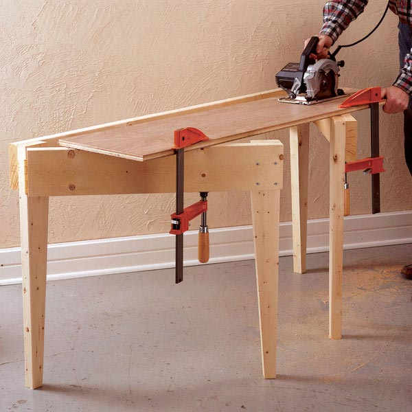 Fold-Out Work Support Woodworking Plan, Workshop & Jigs Workbenches Workshop & Jigs $2 Shop Plans