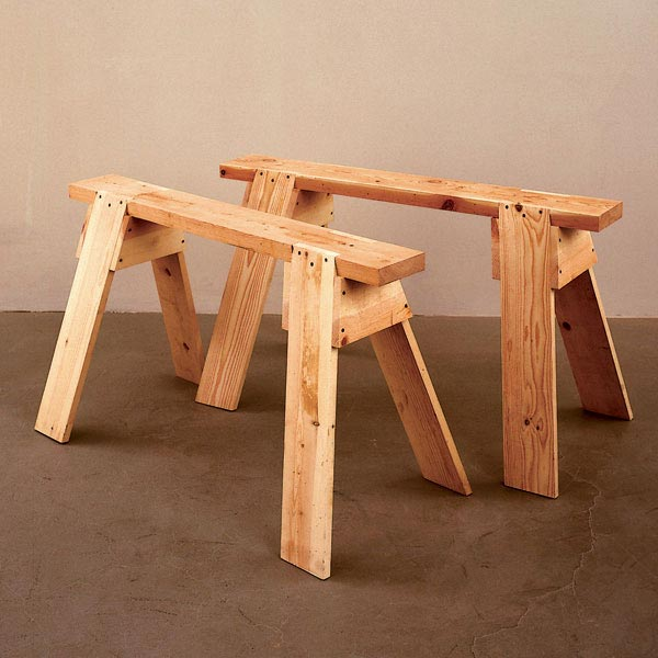 Back-to-Basics Sawhorses Woodworking Plan, Workshop & Jigs Tool Bases & Stands Workshop & Jigs $2 Shop Plans