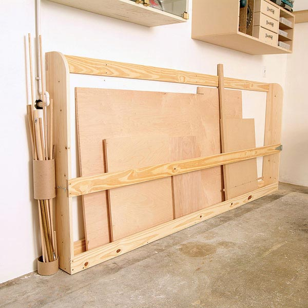Sheet Goods Rack Woodworking Plan, Workshop & Jigs Shop Cabinets, Storage, & Organizers Workshop & Jigs $2 Shop Plans