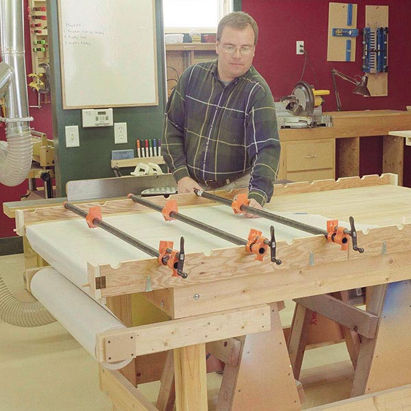 Flip-up Pipe-Clamp Supports Woodworking Plan, Workshop & Jigs Jigs & Fixtures Workshop & Jigs $2 Shop Plans