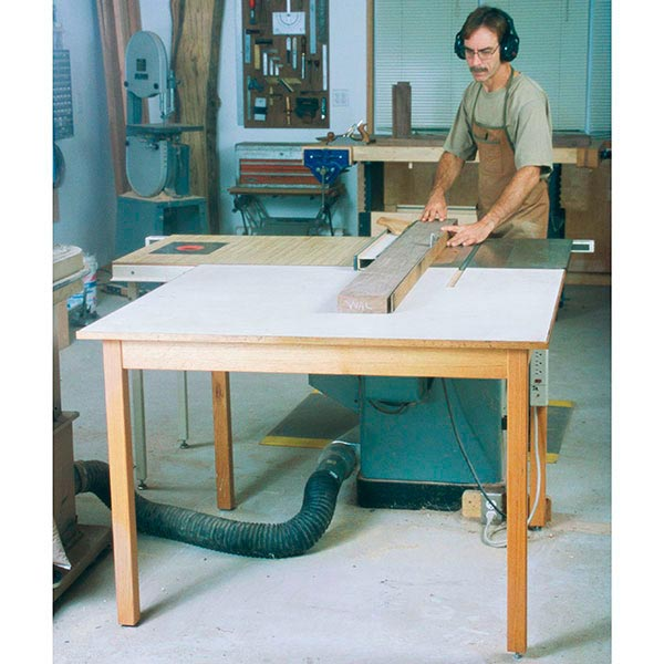 Double-Duty Outfeed Table Woodworking Plan, Workshop & Jigs Workbenches Workshop & Jigs $2 Shop Plans