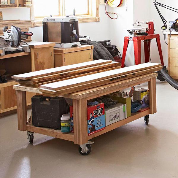 On-the-Go Storage Cart Woodworking Plan, Workshop & Jigs Shop Cabinets, Storage, & Organizers Workshop & Jigs $2 Shop Plans