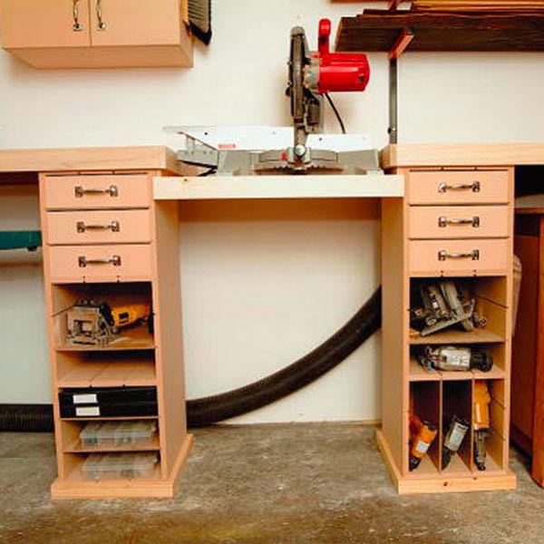 Mitersaw Work Station Woodworking Plan, Workshop & Jigs Tool Bases & Stands Workshop & Jigs $2 Shop Plans