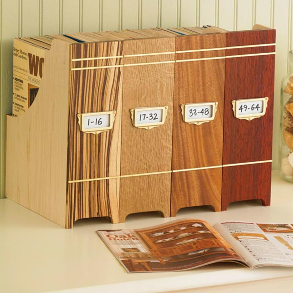 Collector's Magazine File Woodworking Plan, Gifts & Decorations Office Accessories Gifts & Decorations Boxes & Baskets