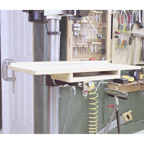 Bolt-On Drill-Press Table Woodworking Plan, Workshop & Jigs Jigs & Fixtures Workshop & Jigs $2 Shop Plans