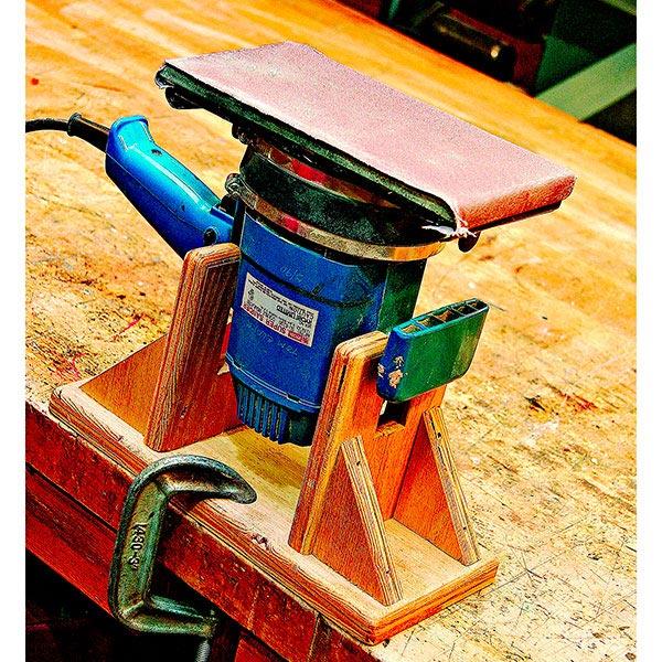 Inverted Sander Stand Woodworking Plan, Workshop & Jigs Tool Bases & Stands Workshop & Jigs $2 Shop Plans