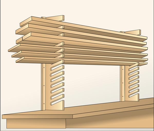 Easy-Access Stock Storage Woodworking Plan, Workshop & Jigs Shop Cabinets, Storage, & Organizers Workshop & Jigs $2 Shop Plans