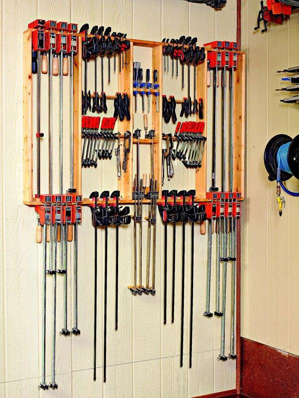 Frame-Style Clamp Hanger Woodworking Plan, Workshop & Jigs Shop Cabinets, Storage, & Organizers Workshop & Jigs $2 Shop Plans