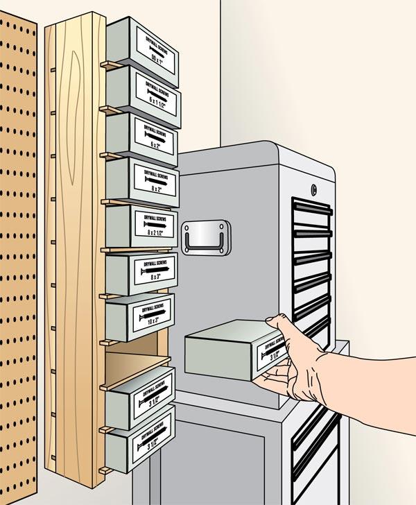 Simple Screw-Box Shelves Woodworking Plan, Workshop & Jigs Shop Cabinets, Storage, & Organizers Workshop & Jigs $2 Shop Plans