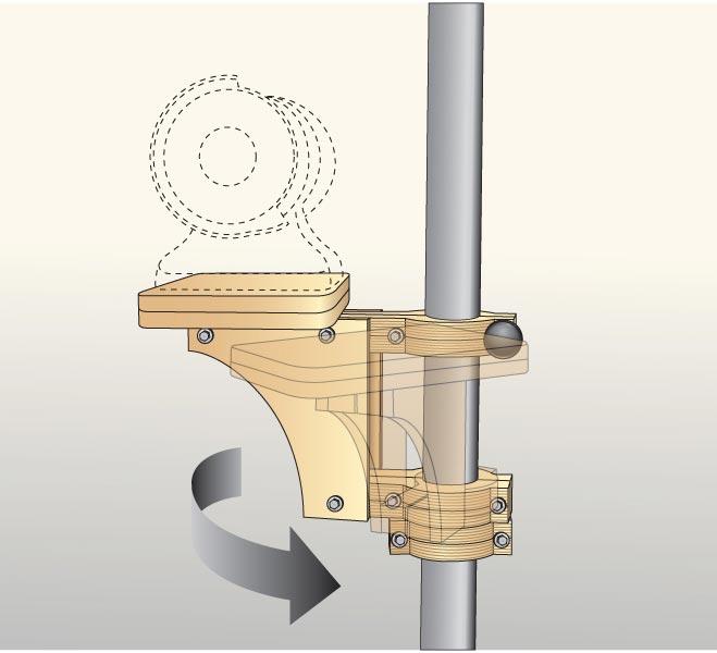 Adjustable Post-Mounted Tool Platform Woodworking Plan, Workshop & Jigs Tool Bases & Stands Workshop & Jigs $2 Shop Plans