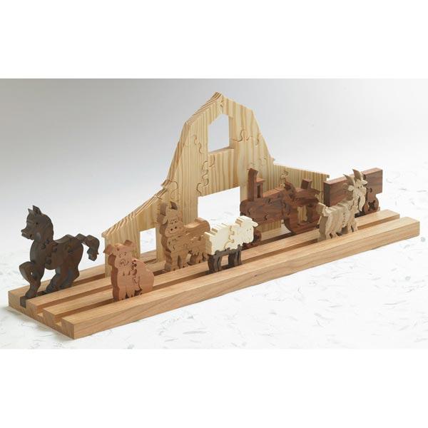 Scrollsawn Barnyard Puzzle Woodworking Plan,