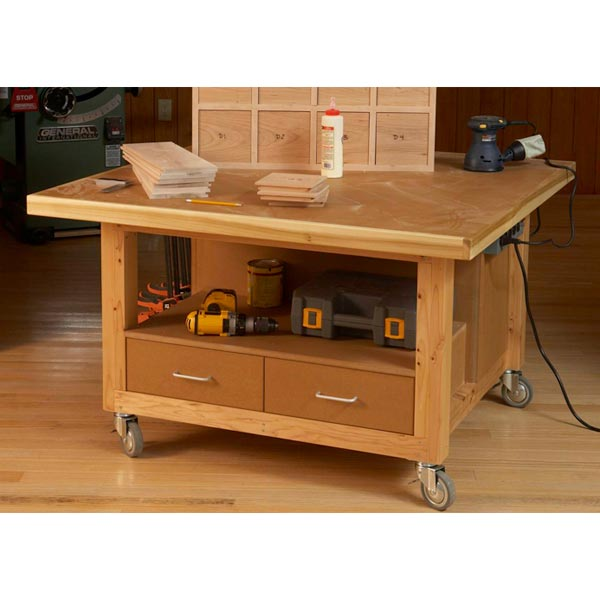 Reliably Rugged Assembly Table Woodworking Plan, Workshop & Jigs Workbenches