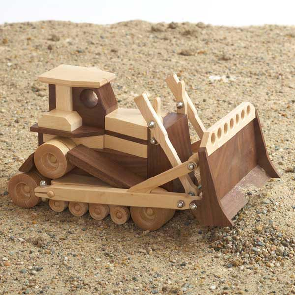 Construction-Grade Bulldozer Woodworking Plan, Toys & Kids Furniture