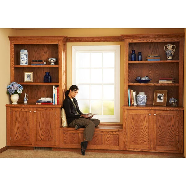 Design and Install Built-In Bookcases Woodworking Plan, Furniture Cabinets & Storage Furniture Bookcases & Shelving