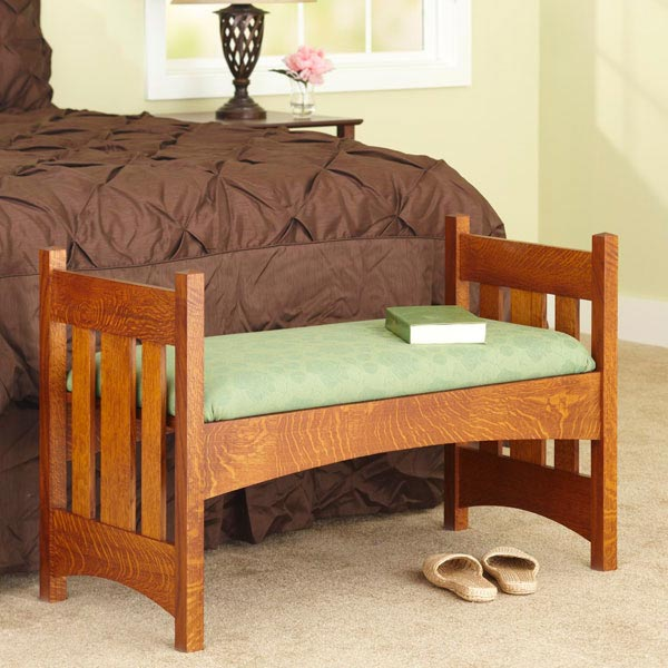 Arts & Crafts-Style Bench Woodworking Plan, Furniture Seating