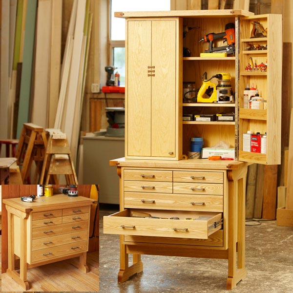 Heirloom Tool Chest Woodworking Plan, Workshop & Jigs Shop Cabinets ...