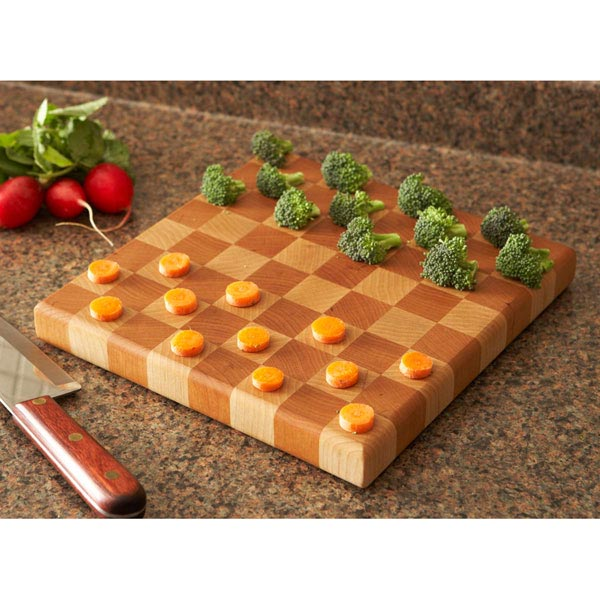 End-Grain Butcher Block Cutting Board Woodworking Plan, Gifts & Decorations Kitchen Accessories
