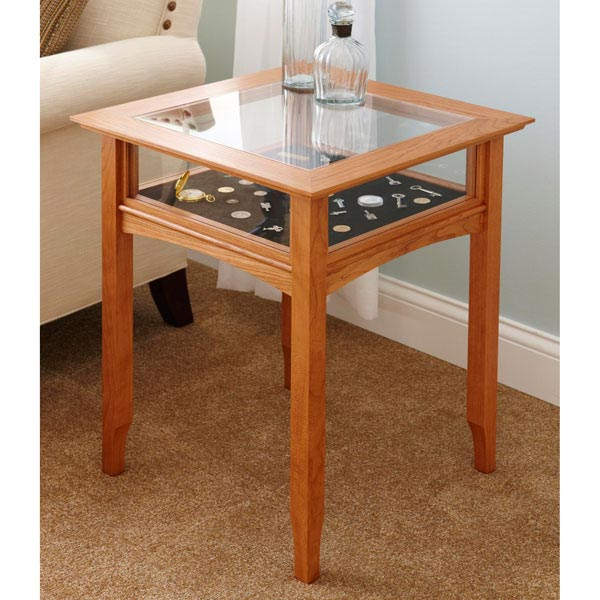 Glass-top Display Table Woodworking Plan, Furniture Tables