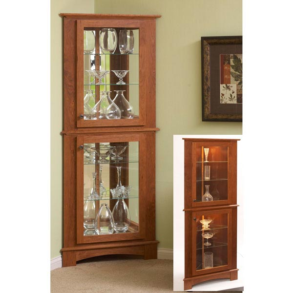 Corner Curio Cabinet Woodworking Plan, Furniture Bookcases & Shelving Furniture Cabinets & Storage