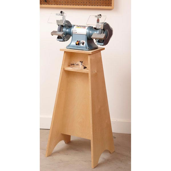 Grinder Grand Stand Woodworking Plan, Workshop & Jigs Tool Bases & Stands Workshop & Jigs $2 Shop Plans