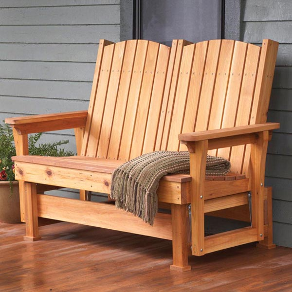 Outdoor Wood Chair Plans ~ Easy breezy glider woodworking plan from wood magazine