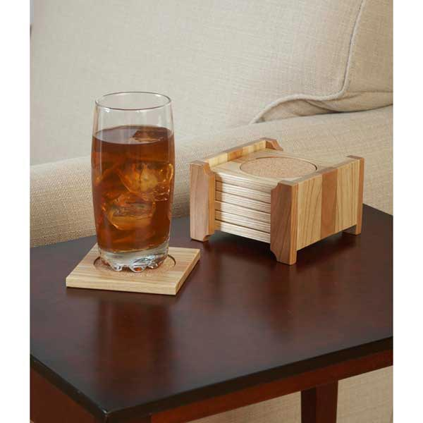 Classy Coaster Set Woodworking Plan, Gifts & Decorations Kitchen Accessories