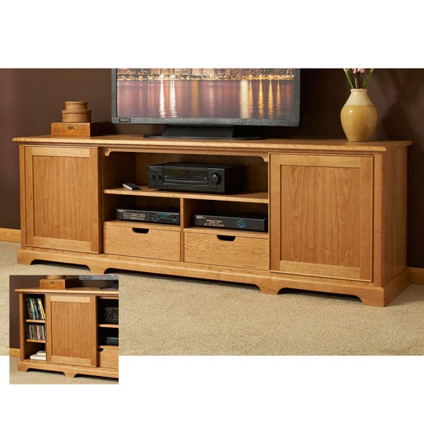 Component ready flat screen media center woodworking plan from wood magazine - Media consoles for small spaces plan ...