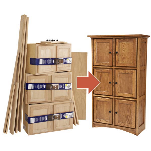 Create Fine Furniture from Stock Cabinets Woodworking Plan, Furniture Cabinets & Storage Furniture Bookcases & Shelving