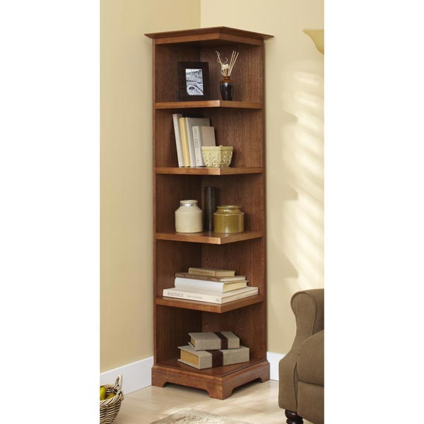 Home / Woodworking Plans / Furniture / Bookcases & Shelving / Corner ...