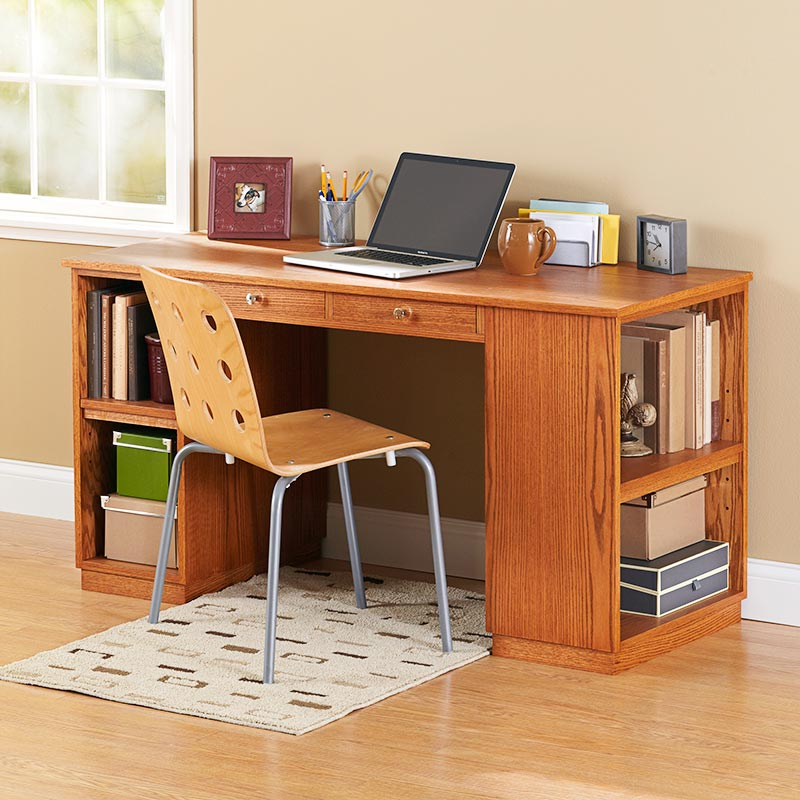 Build-to-Suit Study Desk Woodworking Plan, Furniture Desks