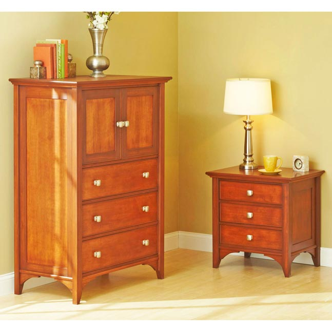 Traditional Dresser & Nightstand Woodworking Plan, Furniture Beds & Bedroom Sets