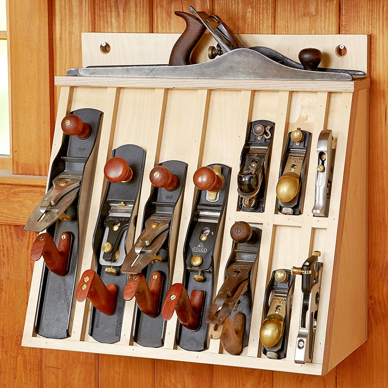 Hand plane Rack Woodworking Plan From WOOD Magazine