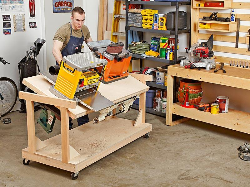 Flip-top Tool Bench