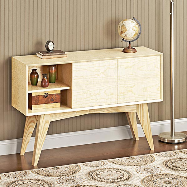 Mid-century Modern Credenza Woodworking Plan, Furniture Entertainment Centers