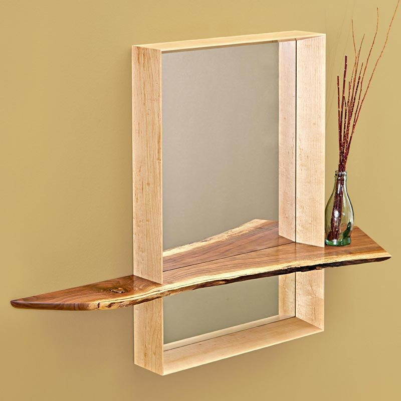 Home / Woodworking Plans / Furniture / Mirrors / Mirror with Shelf