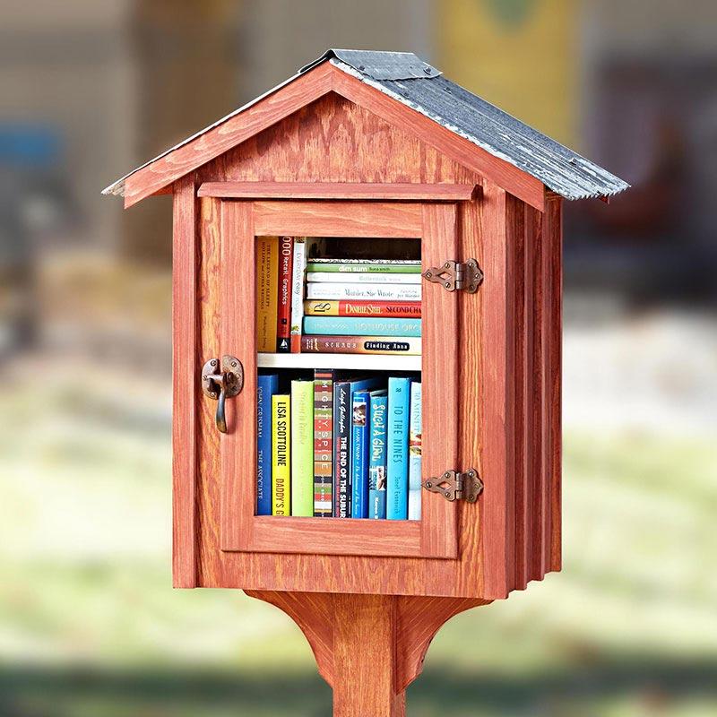 Neighborhood Book Nook Woodworking Plan, Outdoor Outdoor Accessories