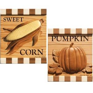 Corn & Pumpkin Intarsia Pattern