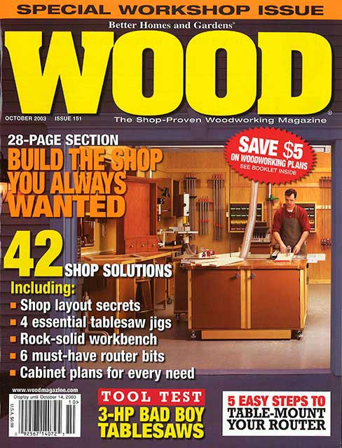 WOOD Issue 151, October 2003, WOOD Magazine