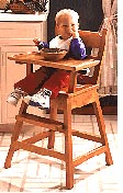 High Chair : Large-format Paper Woodworking PlanToys & Kids Furniture