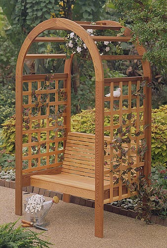 Garden Arbor : Large-format Paper Woodworking PlanOutdoor Backyard Structures