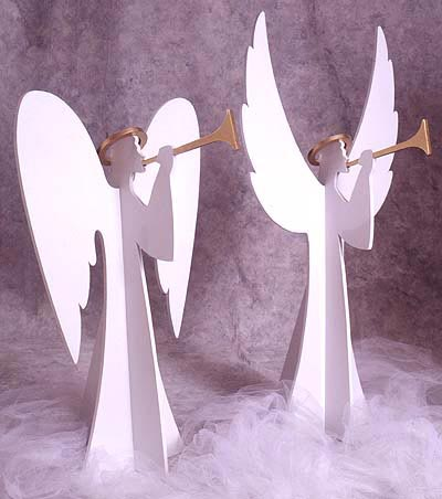 Heavenly Winds Angels : Large-format Paper Woodworking Plan