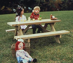 Kid's Picnic Table : Large-format Paper Woodworking PlanToys & Kids Furniture Outdoor Outdoor Furniture