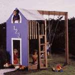 Kid's Play Structure : Large-format Paper Woodworking PlanToys & Kids Furniture Outdoor Backyard Structures