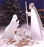 Nativity Scene : Large-format Paper Woodworking PlanOutdoor Seasonal Yard Figures Holidays